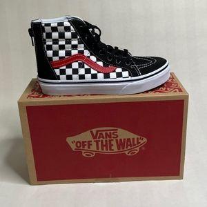 NIB Vans Sk8 Hi Zip Checkerboard Sneakers NWT